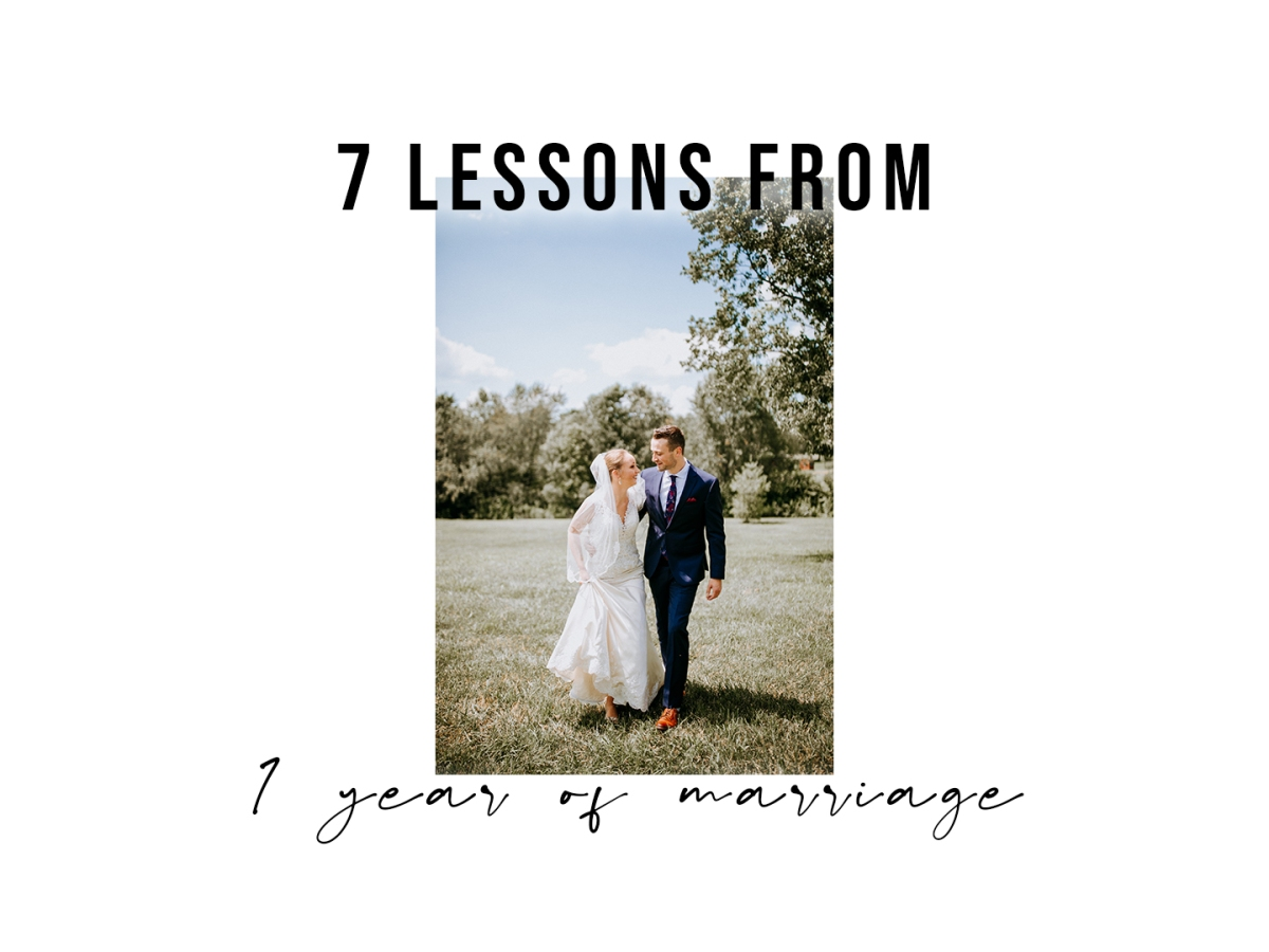 7 lessons from 1 year of marriage title image